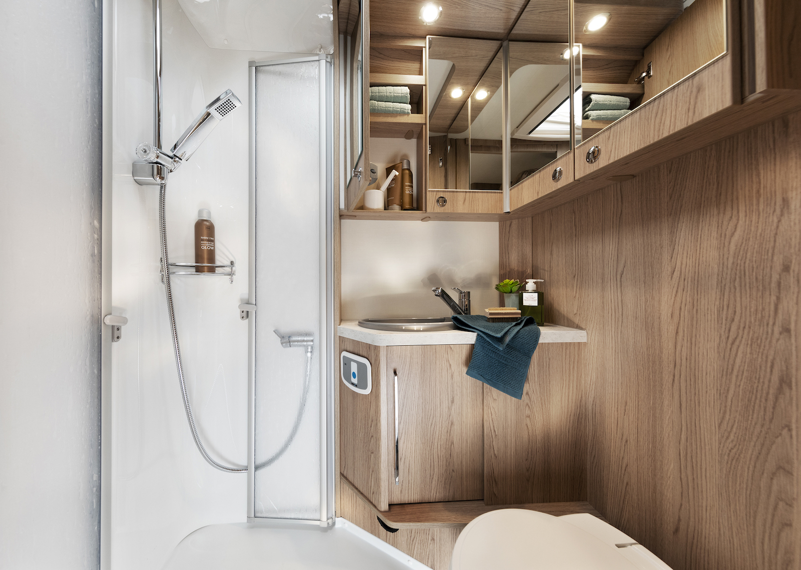 LMC Grey Selection - badkamer douche camper